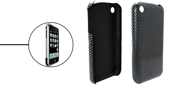 Black Silver Lattice Plastic Case Cover for iPhone 1st Generation