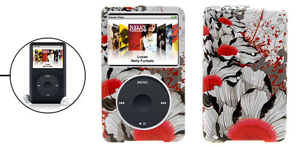 Flower Pattern Plastic Hard Case for iPod Classic 80GB