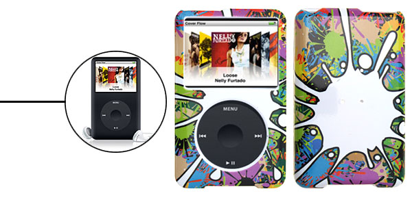 Stylish Multicolor Plastic Hard Case for iPod Classic 80GB