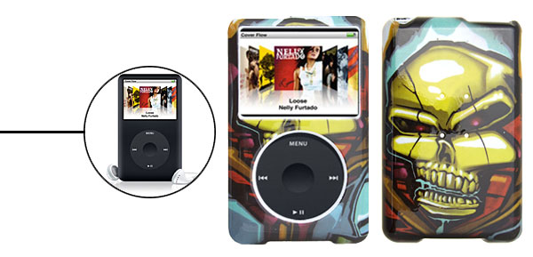 Skull Plastic Hard Case for iPod Classic 80GB