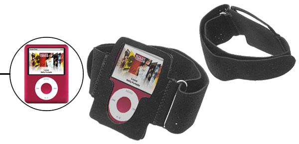 Black Sports Armband Case for Apple iPod Nano 3rd Generation 3G