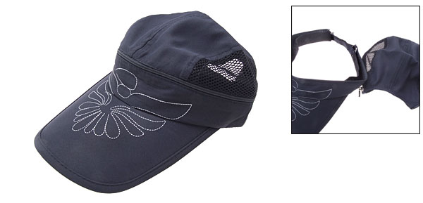 Fashion Flower Baseball Mesh Trucker Hat Sun Visor Cap Blue