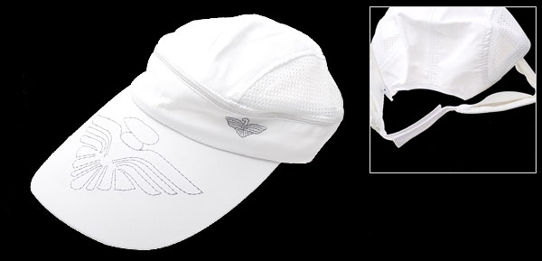 Fashion Flower Sun Visor Mesh Trucker Hat Baseball Cap White