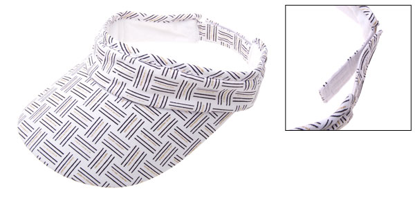 Stylish Sports Jogging Running Hat Sun Visor Cap White