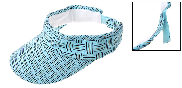 Stylish Sun Visor Cap Sports Jogging Running Hat Light Blue