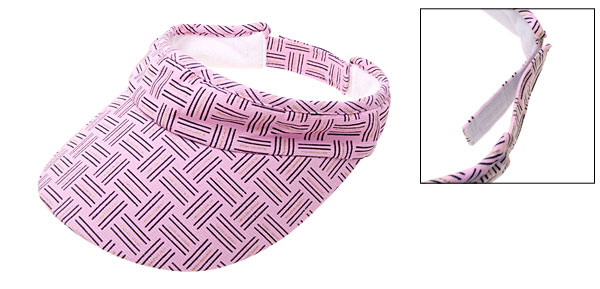 Stylish Sun Visor Hat Cap Sports Running Jogging Pink