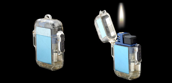 Pocket Refillable Gas Windproof Cigarette Cigar Lighter Blue