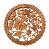 Peony Bloom Chinese Art Handcraft Wood Carving Wall Decoration