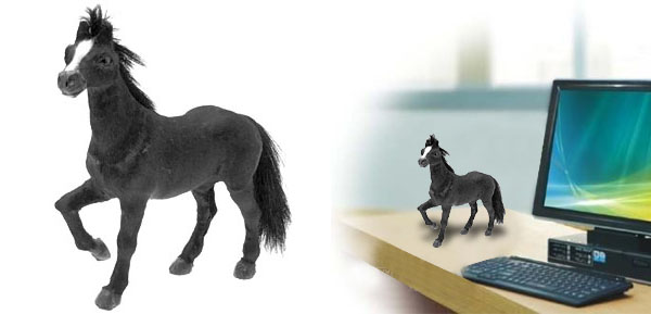 Black Horse Stuffed Animal Office Decoration Ornament Gift Toy