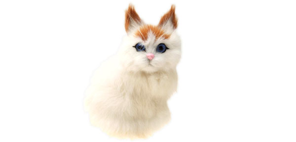 White Cat for Office Home Decoration Toy Gift