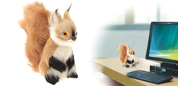 Squirrel Stuffed Animal Office Decoration Ornament Gift Toy