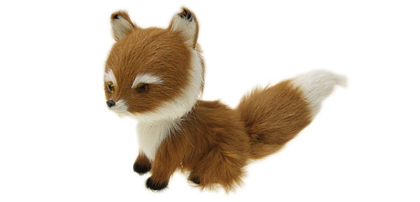 Brown Furry Fox Christmas Ornament Animal Decoration Gift