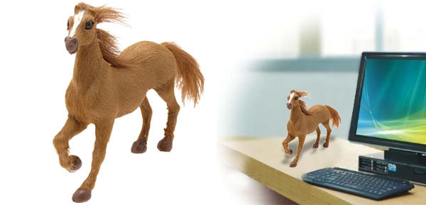Galloping Horse Stuffed Animal Office Decoration Ornament Gift Toy