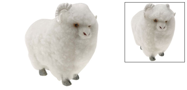 White Ram for Office Home Decoration Toy Gift