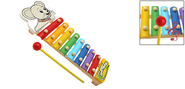 Cartoon Mouse Toy Xylophone Children Musical Instrument