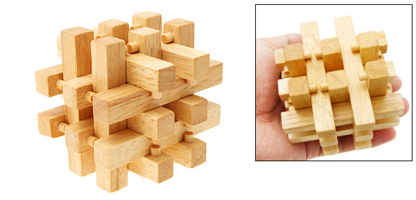 New Vintage Cube 3D Wooden Brain Teaser Puzzle Toys Hobbies