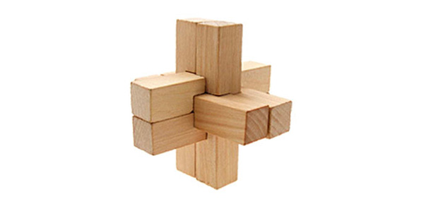 Unique 3D Wooden Brain Teaser Puzzle Vintage Toys Hobbies