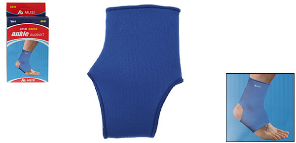 Neoprene Slip-on Ankle Support Brace Wrap Blue