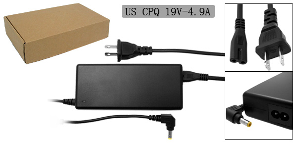US Plug 100-240V Laptop AC Adapter w Power Cord for Compaq Presario 2100