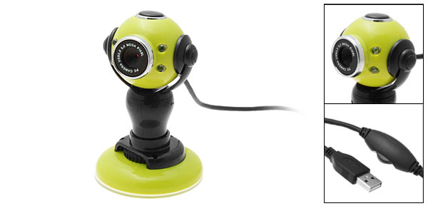 New Computer PC USB Video Webcam Web Digital Camera Green