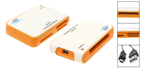 New All in 1 USB 2.0 SD Flash Memory Card Reader Writer