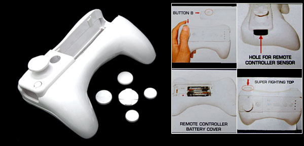 Handle Grip Holder and PAD for Nintendo Wii Remote Control