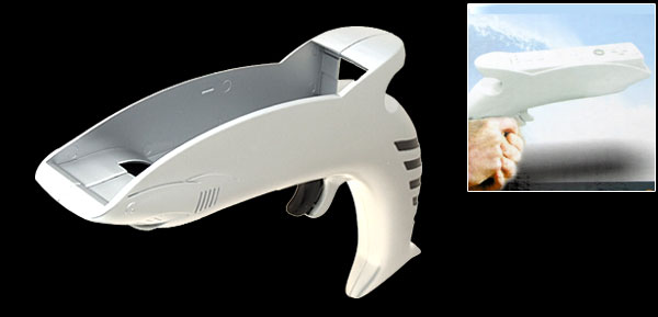 Shark Gun for Nintendo Wii Game Controller Silver