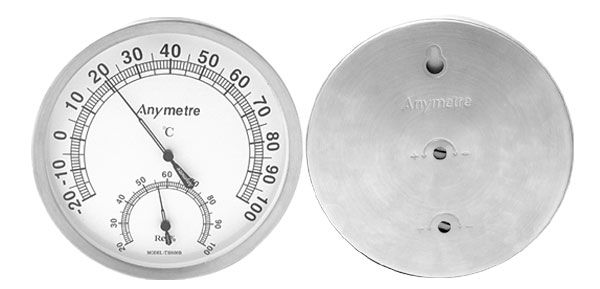 Wireless Indoors Outdoors Wall Mount Thermometer and Hygrometer White