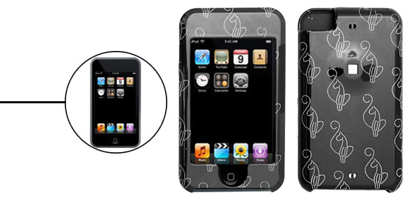 Abstract Dog Plastic Hard Case for Apple iPod Touch Black 1st Generation
