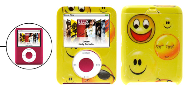 Stylish Smiley Hard Plastic Case for iPod Nano 3rd Generation