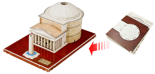 Washington Jefferson Memorial Model 32 Pieces 3D Jigsaw Puzzles Toys