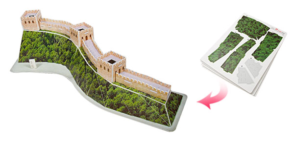 55 Pieces World's Architecture Great Wall DIY 3D Jigsaw Puzzles Toys