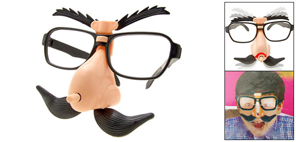 Groucho Marx Funny Glasses with Moving Eyebrows And Mustache for Party and Joke