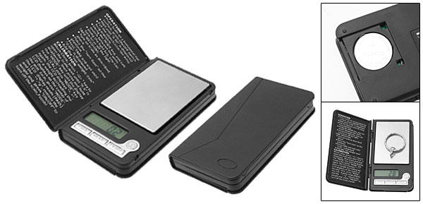 Pocket Digital LCD 300 g Gram Weight Scale Black