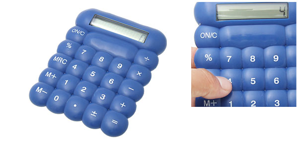 Blue Plastic LCD 8 Digit Percentage Electronic Calculator