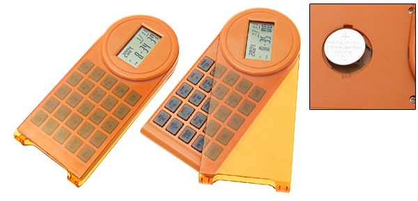 Electronic Time Calculator with Calendar Alarm Clock Orange