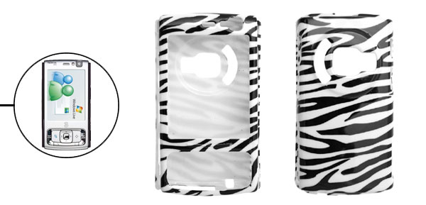 Zebra Pattern Hard Plastic Cover Case Holder for Nokia N95
