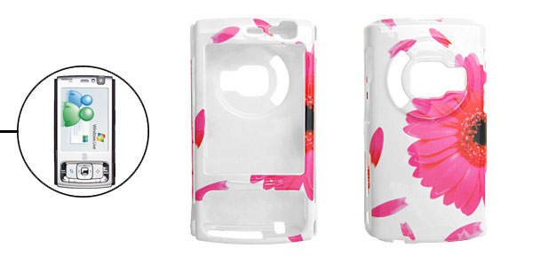 Peachblow Flower Patterned Hard Plastic Cover Case Holder for Cell Phone Nokia N95