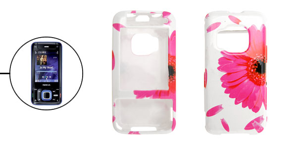 Peachblow Flower Pattern Hard Plastic Cover Case Holder for Nokia N81