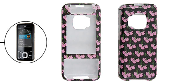 Pink Cherry Patterned Hard Plastic Cover Case Holder for Nokia N81