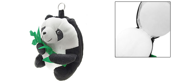 Lovely Plush Panda Doll CD DVD Game 24 Storage Wallet Case