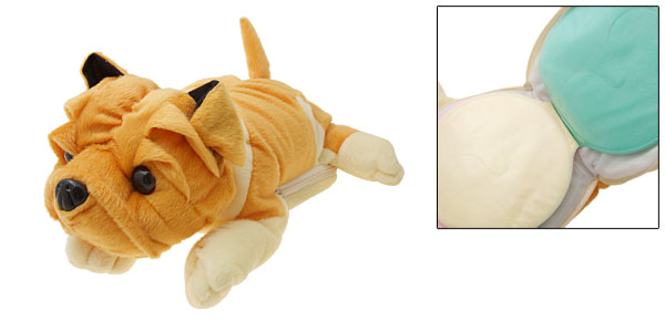 Cute Plush Dog Doll CD DVD Game 24 Storage Wallet Case Yellow