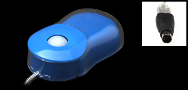 3D Scroll Mini PS/2 USB Optical Computer Laptop PC Mouse Blue