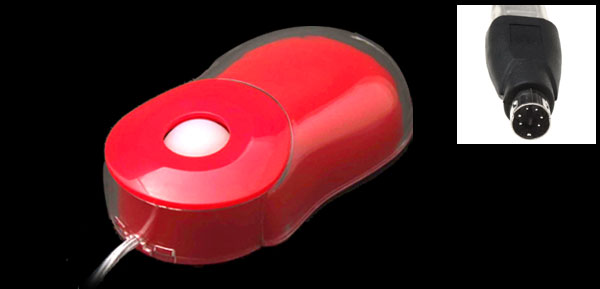 Red 3D Scroll Mini PS/2 USB Optical Laptop PC Computer Mouse