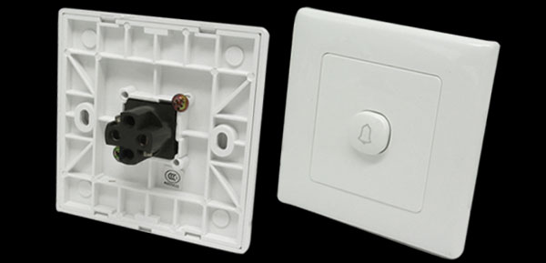 Wall Mount Doorbell Door Bell Cover Plate Button Switch