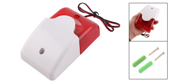 Mini 12 Volt Security Replacement Alarm Strobe Siren Light