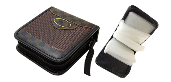 Fashion Leather VCD DVD CD Carrying Storage Case Bag Holder