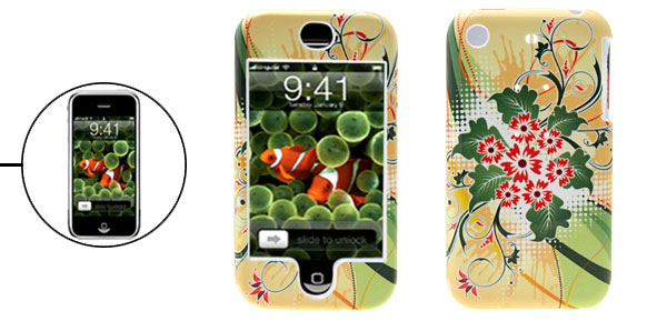 Stylish Flower Plastic Hard Case Protective Cover for Apple iPhone 1st Generation
