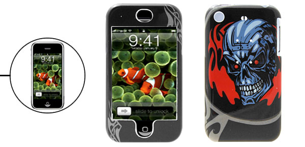 Cool Skull Hard Plastic Case Protective Cover for Apple iPhone 1st Generation
