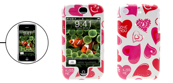 Stylish Heart Hard Plastic Protective Case Cover for Apple iPhone 1st Generation